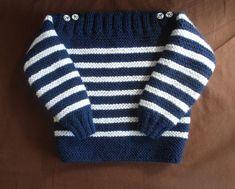 Je débute au tricot les côtes ou tricoter un pull bébé simplissime - Baby Boy Knitting Patterns, Baby Sweater Knitting Pattern, Jumper Patterns, Knit Baby Sweaters, Baby Patterns, Knit Patterns, Diy Crafts Knitting, Easy Knitting, Crochet For Boys