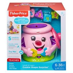 Fisher-Price Laugh and Learn Cookie Shape Surprise *** You can get more details by clicking on the image. (This is an affiliate link) Baby Girl Toys, Toys For Girls, Brinquedos Fisher Price, Learning Toys For Toddlers, Baby Learning, Fisher Price Baby Toys, Toddler Birthday Gifts, Talking Toys, Teaching Shapes