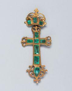 Spanish or Spanish Colonial, Cross Pendant