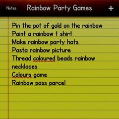 Rainbow pass the parcel Rainbow Party Games, Rainbow Unicorn Party, Rainbow Parties, Rainbow Birthday Party, Rainbow Theme, 6th Birthday Parties, Slumber Parties, Birthday Ideas, Kids Party Themes