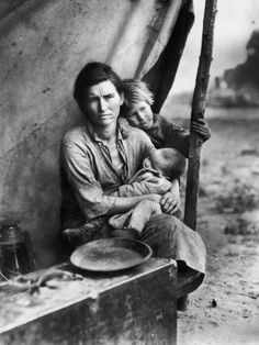 Migrant Mother Florence Thompson and Children  Photographie  Dorothea Lange