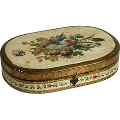 N.P.Trent Antiques Italian Painted Jewelry Box ❤ liked on Polyvore