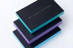 EDGE PAINTED BUSINESS CARDS   HALO DESIGN STUDIOS
