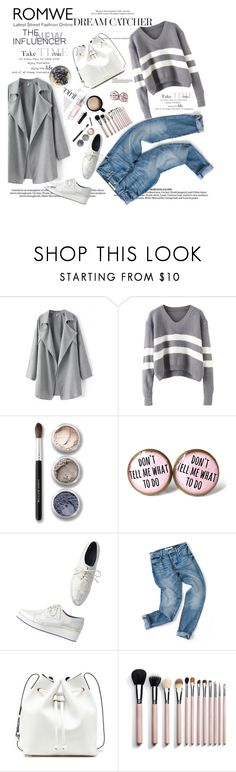 """""""grey time"""" by nataskaz ❤ liked on Polyvore featuring Bare Escentuals, Monki, Sole Society, Christian Dior, women's clothing, women, female, woman, misses and juniors"""