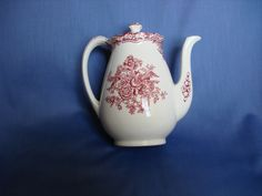 Crown Ducal Bristol Pink Coffee Pot
