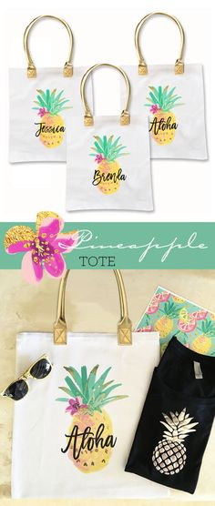 Hey, I found this really awesome Etsy listing at https://www.etsy.com/listing/474587439/pineapple-tote-bags-aloha-pineapple