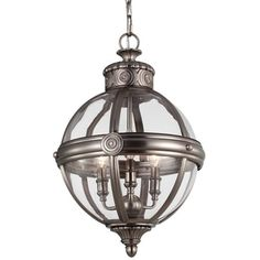 Whitehouse Medium Nickel Finish 1-light Chandelier - Free Shipping Today - Overstock.com - 18495674