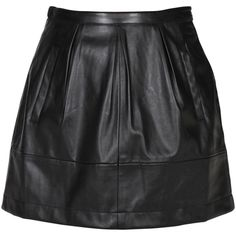 Alice in the Eve - Pocket Pleated Pleather Skirt $90. General Pants