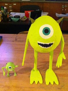 Mike from monsters inc that I made out of paper mâché.