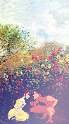 Tarzan and Jane + Monet - Art by annabjorgmans.tumblr.com