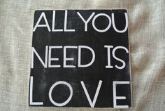 All you need is love typography home decor by scrapartbynina, $25.00