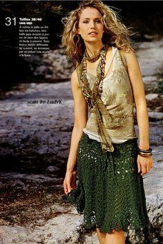 Crochet gold skirts