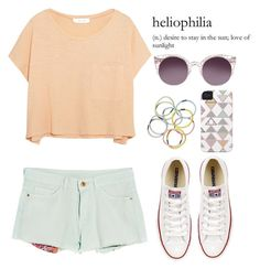 Summer patel by donut-care on Polyvore featuring polyvore fashion style Elizabeth and James MANGO Converse Monki clothing Summer light pastel groupcontest