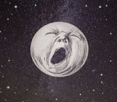 minha essência, arruinar is part of Moon art La Luna - Art Et Illustration, Illustrations, Art Bizarre, Art Sketches, Art Drawings, Art Hippie, Arte Peculiar, Arte Indie, Wow Art