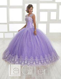 Embellished Glitter Dress by House of Wu LA Glitter 24021 – ABC Fashion Sweet 16 Dresses, 15 Dresses, Pretty Dresses, Girls Dresses, Lavender Dresses, Quince Dresses, Charro Dresses, Purple Quinceanera Dresses, Glitter Dress