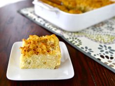 Sweet Lokshen Kugel. I have been making almost this exact recipe for years. It taste very much like cheesecake. It is delicious!