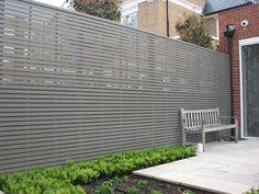 Painted slatted panels