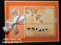 Birds Paradise Stampin' Up! Card Created by Michelle Zindorf - Thoughts & Prayers and Wetlands Stamp Sets