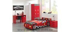 Dětský pokoj pro kluka ve stylu závodních aut Toddler Bed, Furniture, Design, Home Decor, Searching, Child Bed, Decoration Home, Room Decor