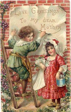 Christmas kids / Christmas Card Art - Postcard - Posters