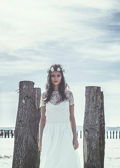 Idée robe pour votre mariage marin De Laure de Sagazan