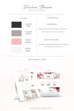 Introducing Vivien new feminine Wordpress theme - LovelyConfetti Wordpress Template, Wordpress Plugins, Wordpress Theme, Email Newsletter Design, Wordpress Website Design, Branding, Create Your Own Website, Web Design Inspiration, Layout