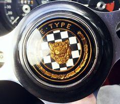E-Type Jaguar steering wheel logo Jaguar Cars, Jaguar E Type, Wheel Logo, Older Models, Volkswagen Logo, Exotic Cars, Motor Car, Random, Vintage