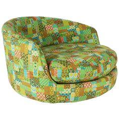 Milo Baughman for Thayer Coggin Swivel Lounge Chair