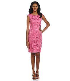 Sue Wong IllusionYoke Soutache Dress #Dillards