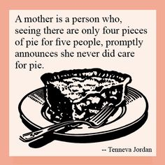 To Mary: Thanks Mom for showing what it always means to be truly selfless! Thanks for everything.
