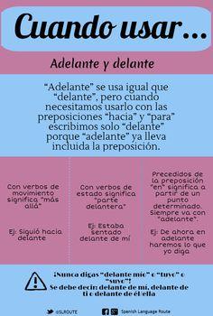 Adelante / Delante