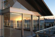 Love all the glass, and that is it a sustainable build Architects Sydney, Sustainability, House Ideas, New Homes, Architecture, Luxury, Building, Glass, Projects