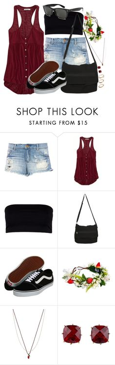 """California Strawberry Festival"" by rocketsheep ❤ liked on Polyvore featuring Pull&Bear, American Eagle Outfitters, AllSaints, Ray-Ban, Hot Topic, Vans, Rock 'N Rose, Les Néréides, ASOS and vans"