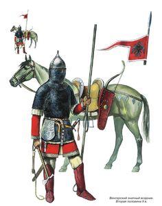 Magyar noble warrior, 2nd half of 10th century AD.