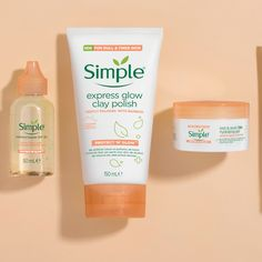 Wondering how to get glowing skin? Try Simple! Our Protect 'N' Glow range comes with a new generation of SPF products and is rich in anti-oxidants Vitamin C & E and organic ginger root to ward off skin damage caused by the environment and keep skin 3X protected.