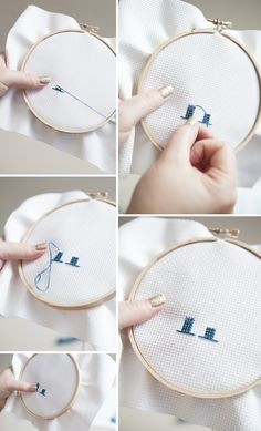 #DIY ~ how to cross-stitch your wedding table numbers! #12MonthsofMartha