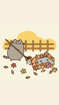 ◆ Pusheen the cat(Пушин кошка)◇ - ◆ Pusheen the cat ◇ - - Wallpaper dekoration kindergarten Kawaii Wallpaper, Wallpaper Iphone Cute, Disney Wallpaper, Cute Wallpapers, Wallpaper Backgrounds, Cute Fall Wallpaper, Gato Pusheen, Pusheen Love, Pusheen Stormy