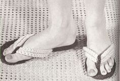 Flip-Flops Thongs Sandals Slippers Crochet PATTERN - lots of slippers on this page