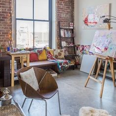 www.littlerugshop.com House Tour: A Colorful Art-Filled New Orleans Studio (Click link above in our profile to take the tour on Apartment Therapy!) by apartmenttherapy