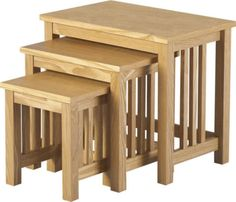 Nest Tables Stacking Set Table Nesting Multi Purpose Wooden Furniture Wood New Nest Tables Stacking Set Table Nesting Multi Purpose Wooden Furniture Wood New DESCRIPTION: Pick the versatile  Nest Tables Stacking  as a stylish addition to your room. A perfect blend of style and functionality, this nest of tables will spruce up the area. This unusual piece of furniture serves well where space is a constraint. It is your choice as to where you wish to place this nest of tables and it depends on…
