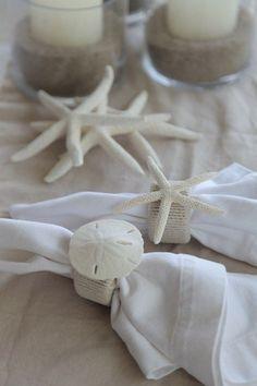 Porta-guardanapo para casamento na praia