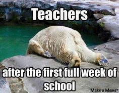 Teacher tired!  The first week of school is hard!