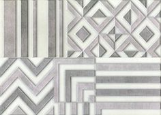 "KEROS CERAMICA - DECORADO GROVE GRIS (Set 2 pcs) - 25x70 / 10""x28"""