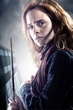 Emma Watson played Hermione Granger just like her character is in the book