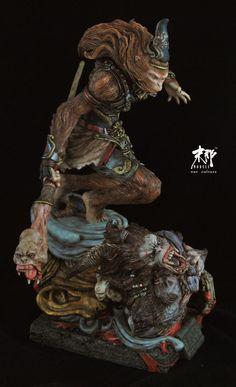 末那原创丨乱之西游系列第1弹《齐天大圣》 原件KIT- Character Modeling, Character Art, Character Design, 3d Figures, Action Figures, Journey To The West, Monkey King, Monster Design, Models Makeup