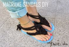 These amazing summer macrame sandals will only take you about 30 minutes. | The 52 Easiest And Quickest DIY Projects Of All Time