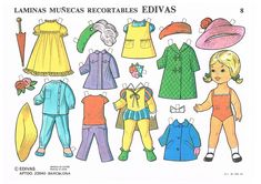 RECORTABLES EDIVAS Y CyP - recortablesmariquitascromostroquelados - Gabitos Single Sheets, Paper Dolls, Doll Clothes, Nostalgia, Aurora Sleeping Beauty, Album, Disney Characters, Prints, Vintage Paper