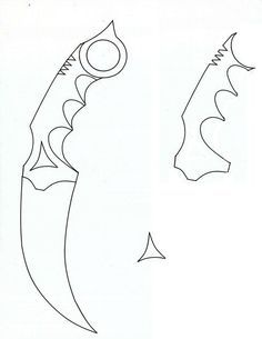 KARAMBIT OUTLINE | Picture of Get A Template And Print It