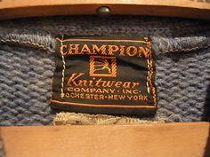 1930's Champion Sweater
