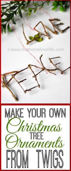 DIY Twig Ornaments #christmas #holiday #craft #diy